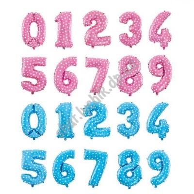 Фольгированные цветные цифры