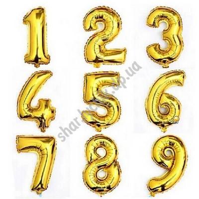 Фольгированные золотые цифры