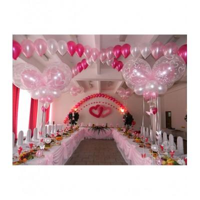 Оформление на свадьбу в розовых тонах